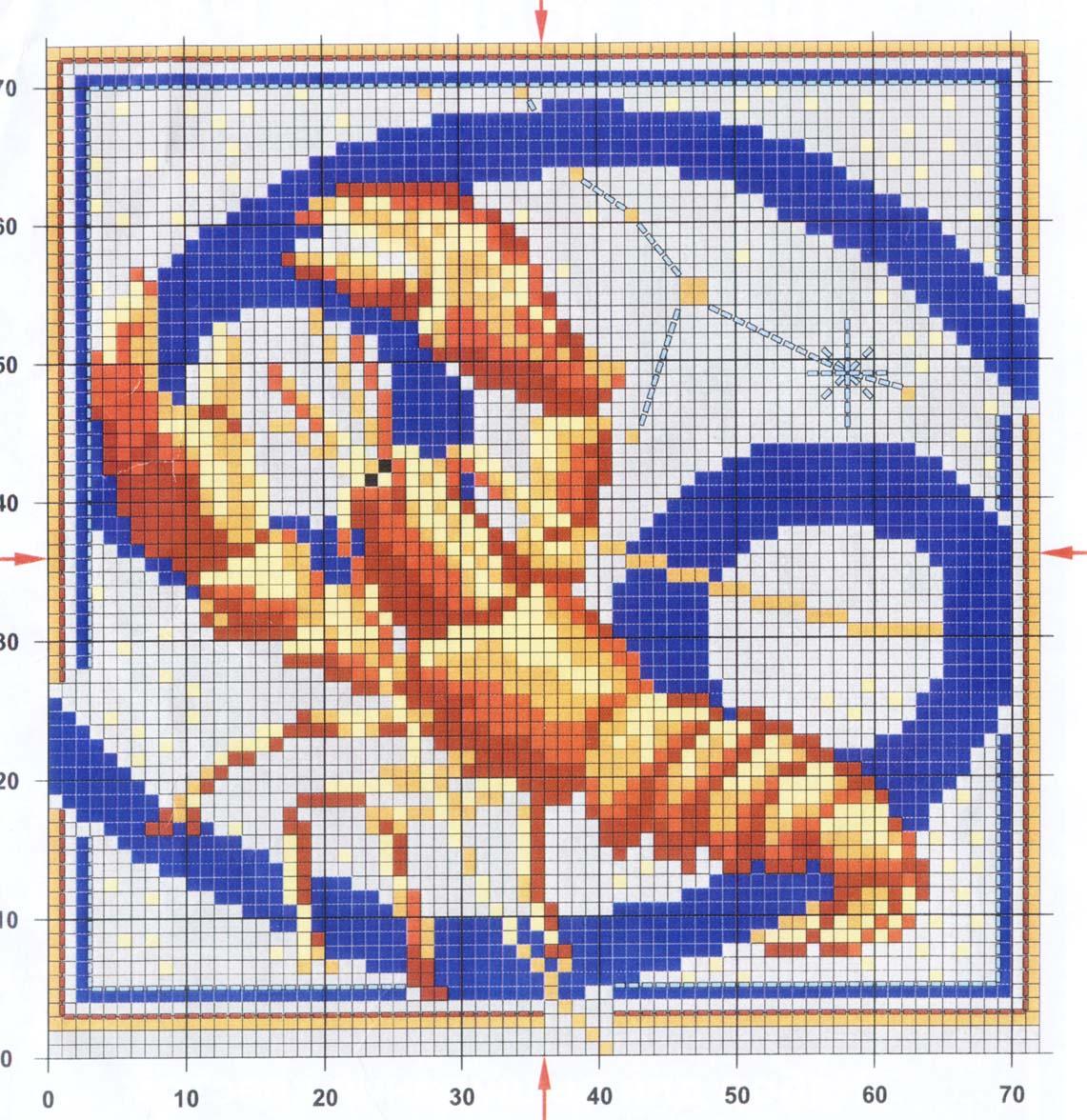 Схема вышивки знака зодиака лев 16