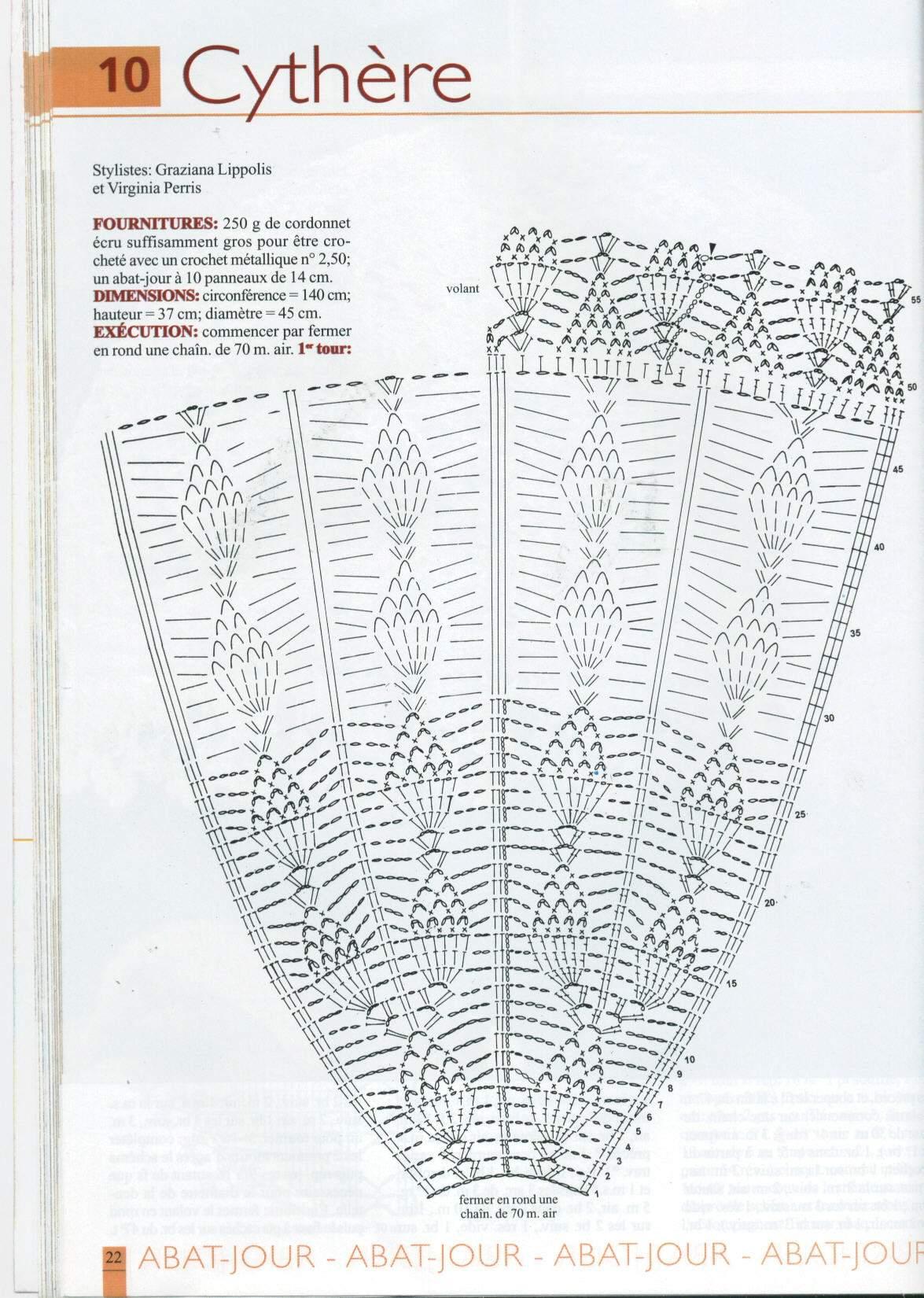 Вязание крючком для абажур 411