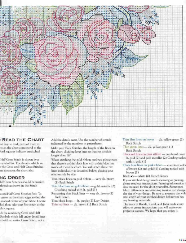 Венок из роз вышивка схема 51