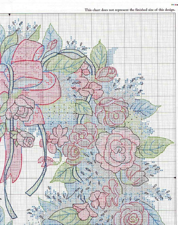 Венок из роз вышивка схема 998