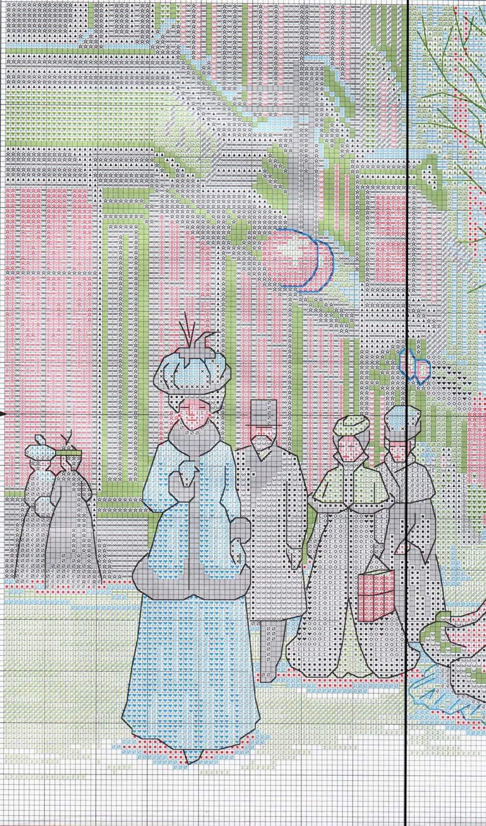 Схемы вышивки изящного века