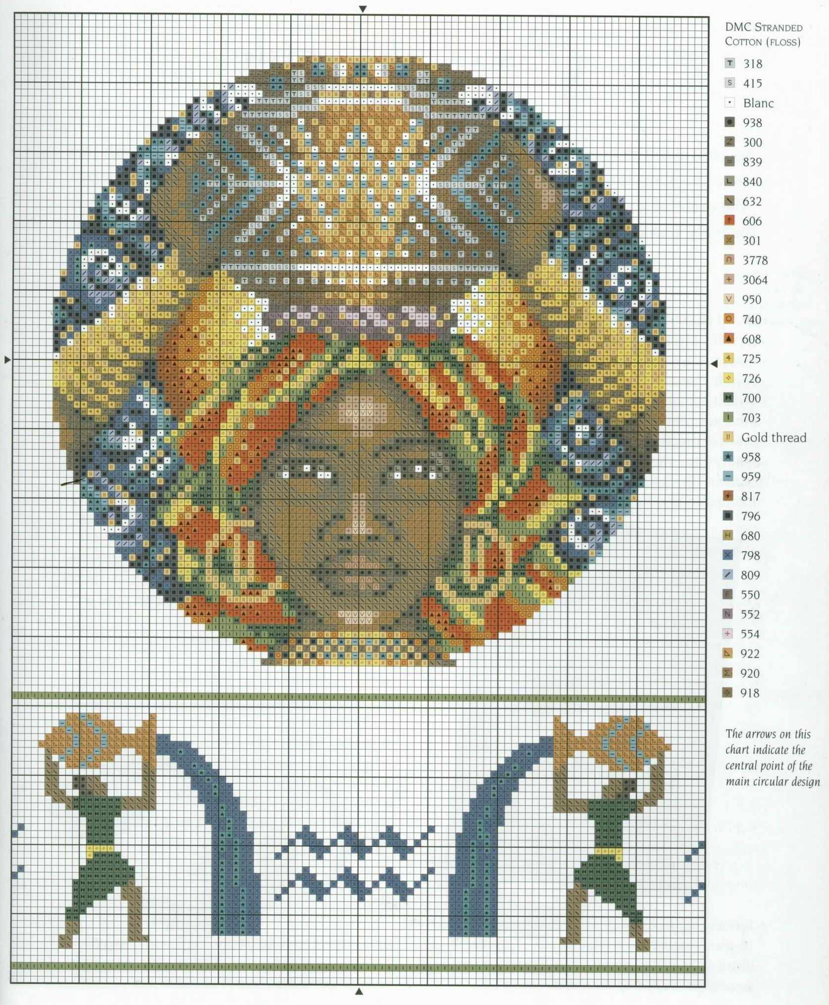 Схема вышивки крестом Овен (21 марта 20 апреля) 86