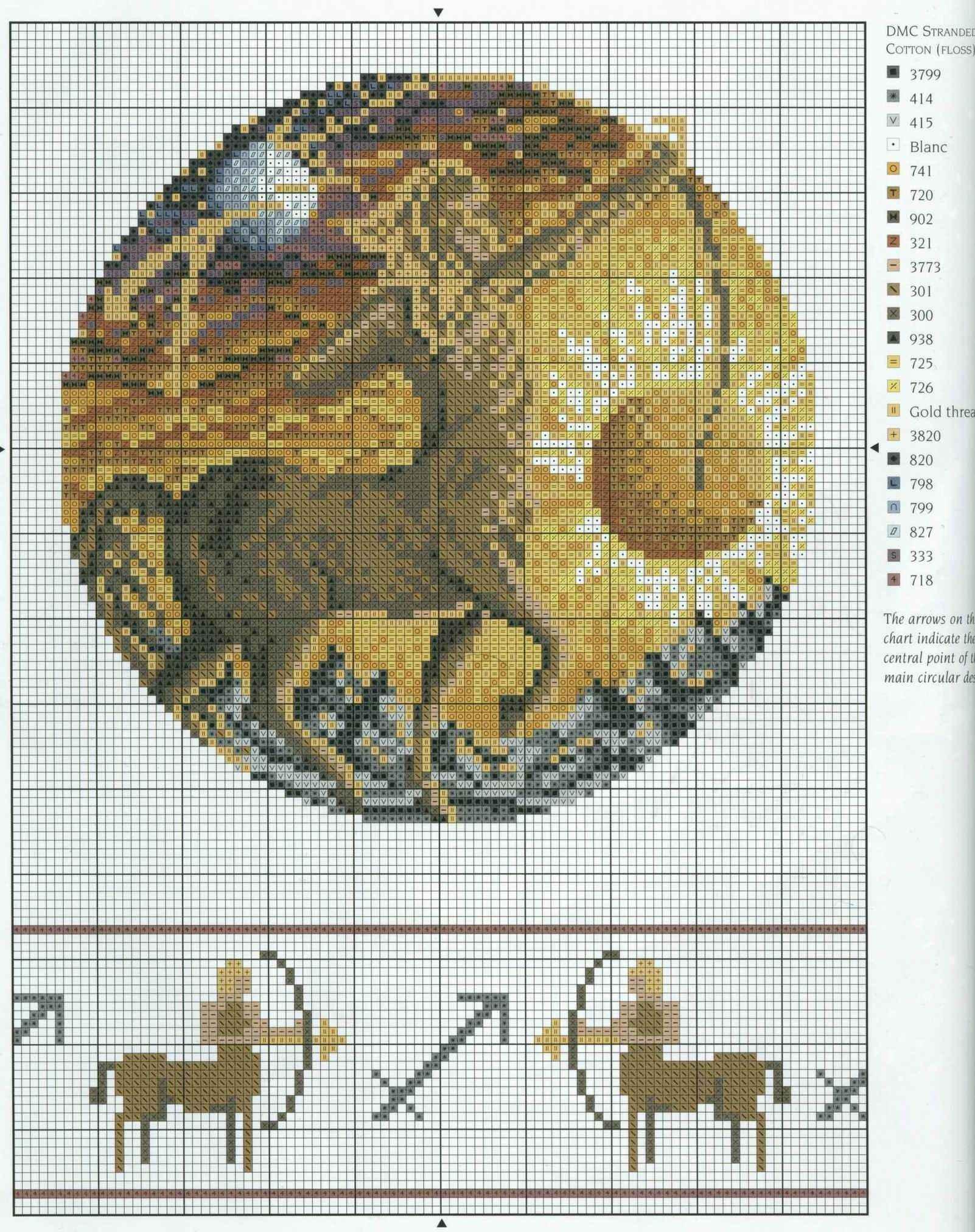 Схема вышивки крестом Овен (21 марта 20 апреля) 34