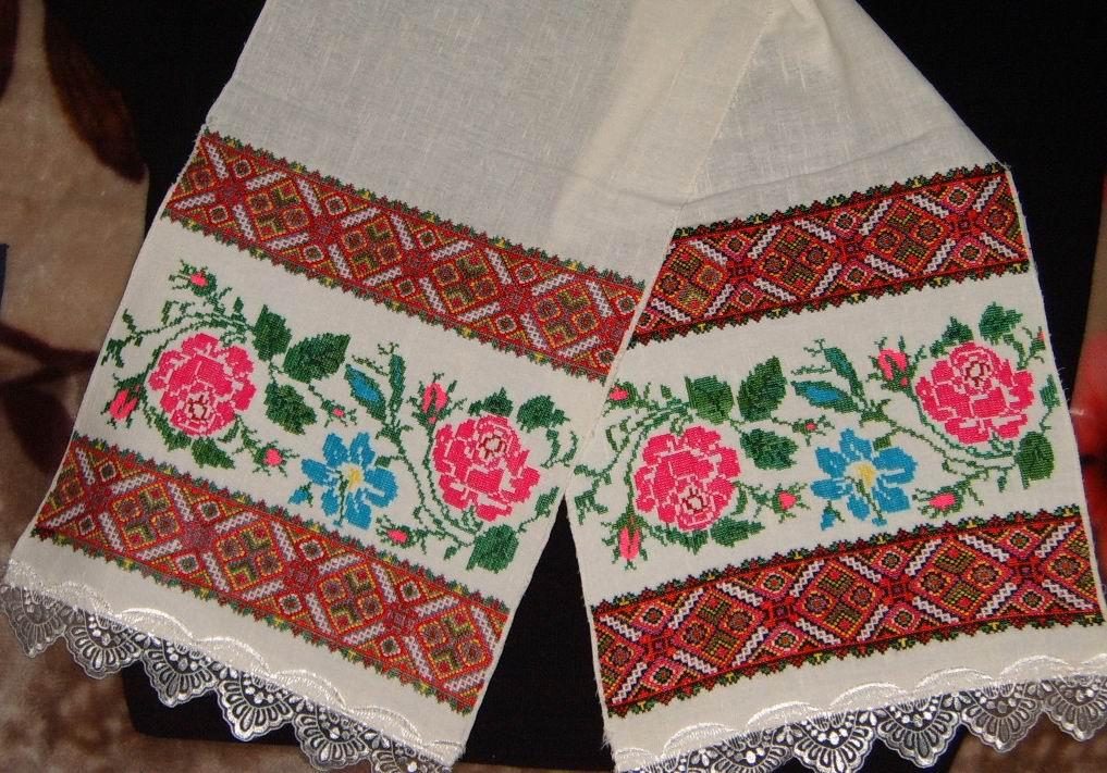 Вышивка полотенце своими руками фото
