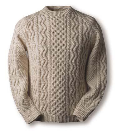 Вязание мужского свитера с аранами спицами 425