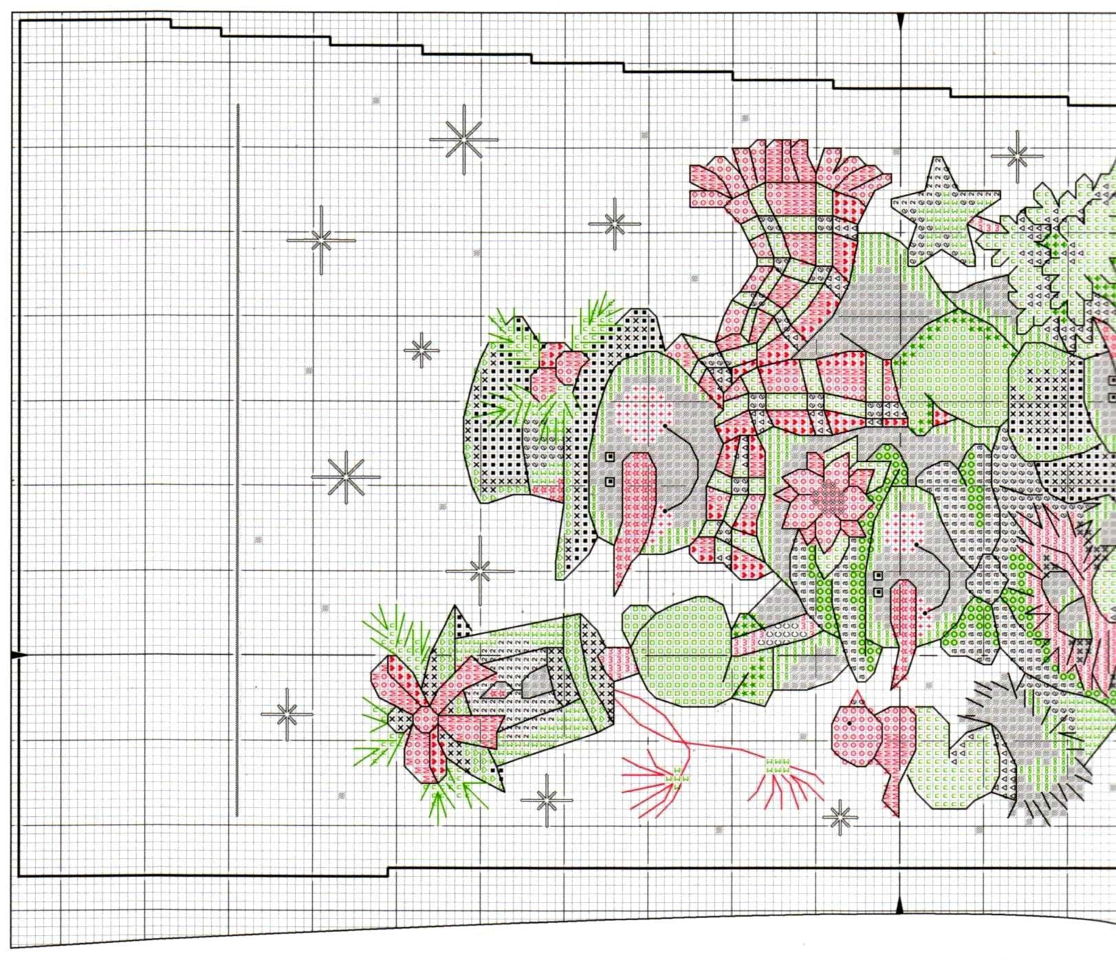 Схема вышивки новогоднего сапожка 55
