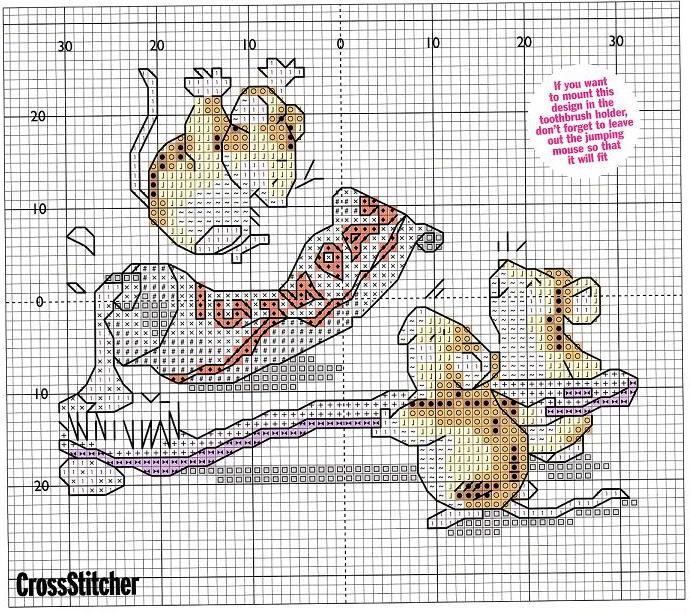 Мыши схемы вышивок - схемы вышивки мышь - вышивка крестом.