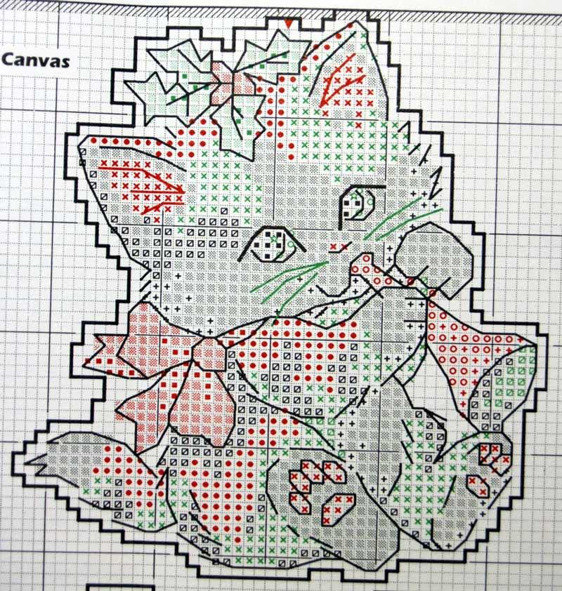 Схемы новогодних вышивок на пластиковой канве 68