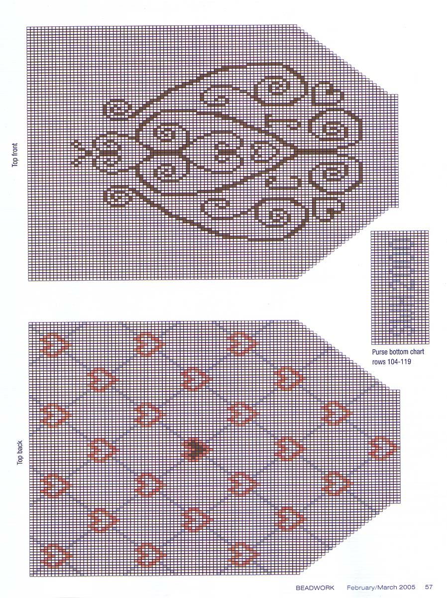 Бисерные сумочки схема