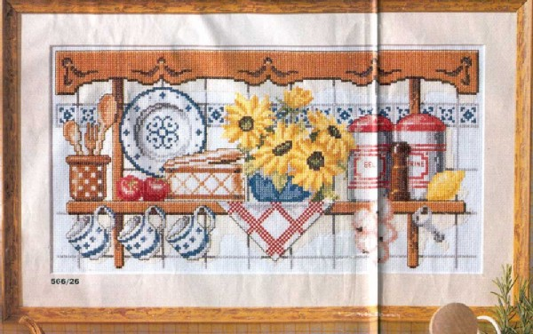 Вышивка крестом картин для кухни 30