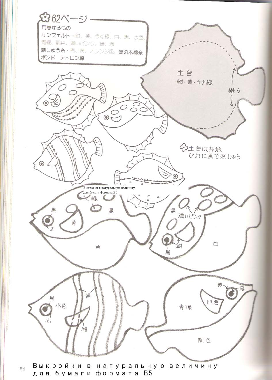 Мастер-класс: Текстильные рыбки: публикации и мастер-классы