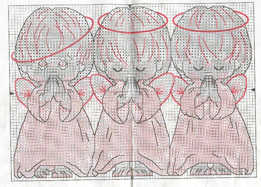 Схема для вышивки три 167
