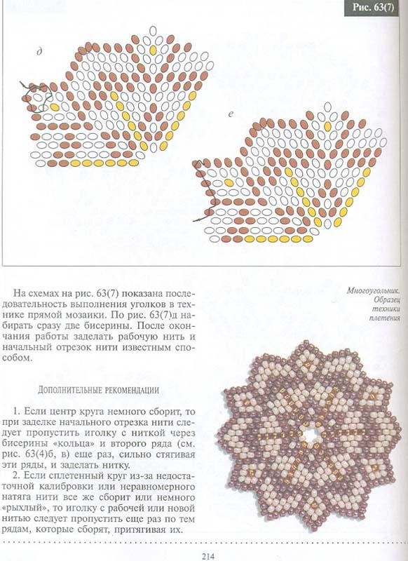 Цветы мозаичным плетением из бисера схемы