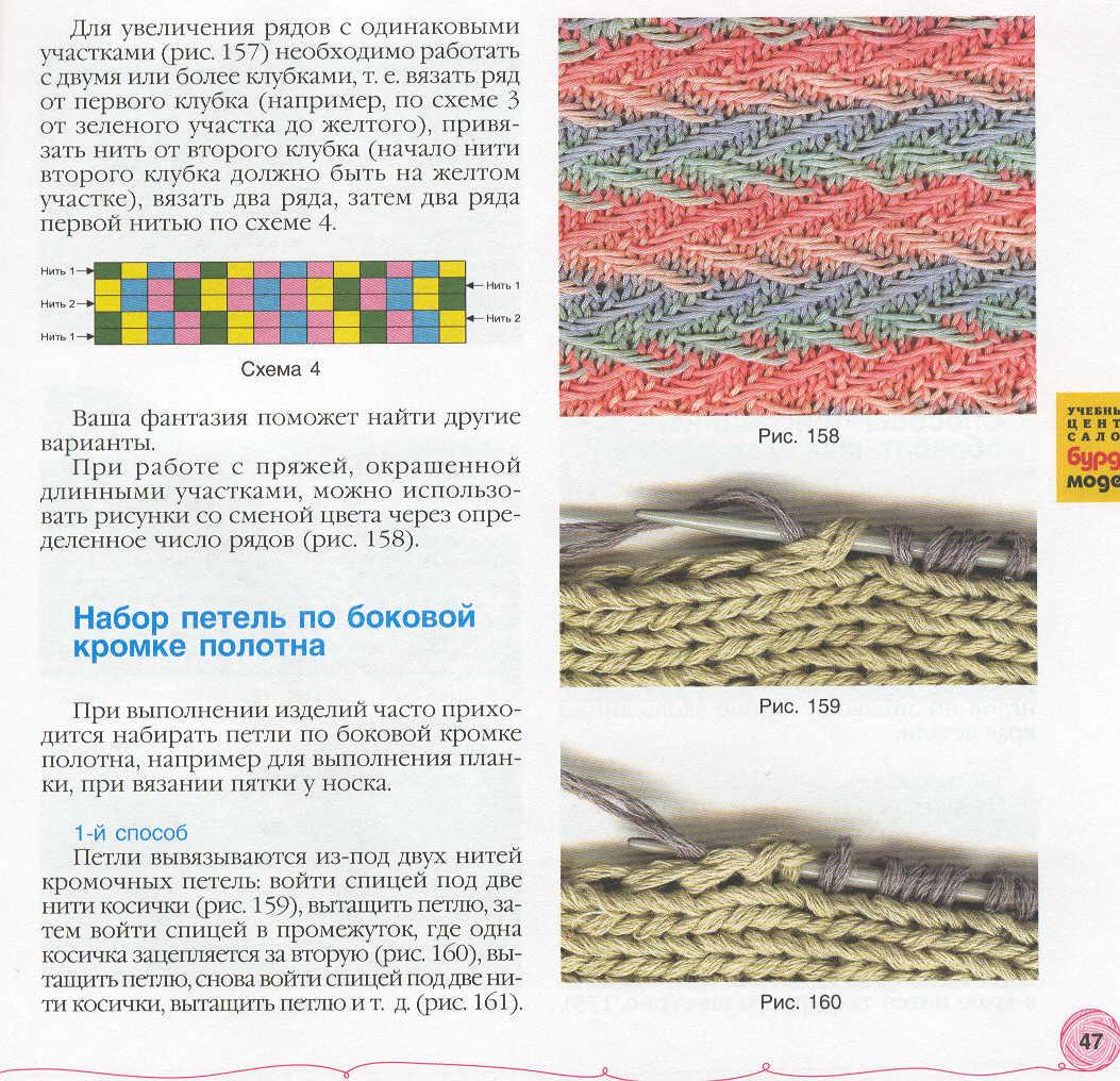 Способ вязания края изделия спицами