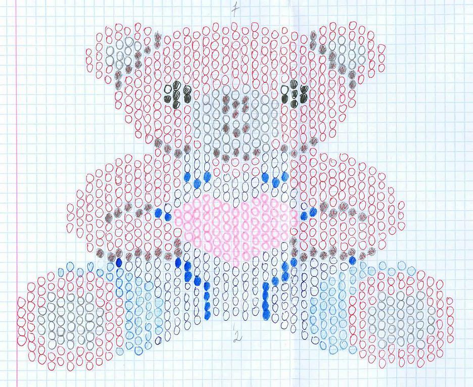 Плетение медвежонка из бисера схема