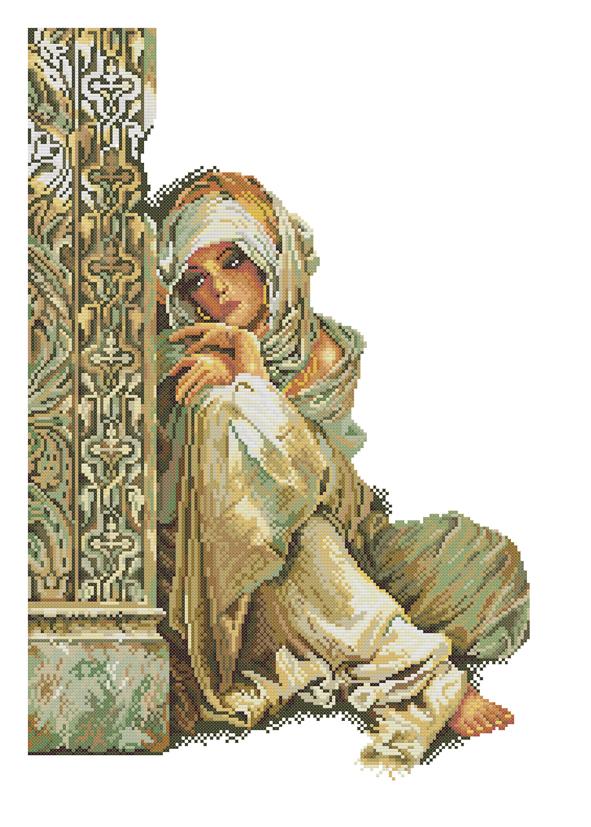 Арабская девушка схема