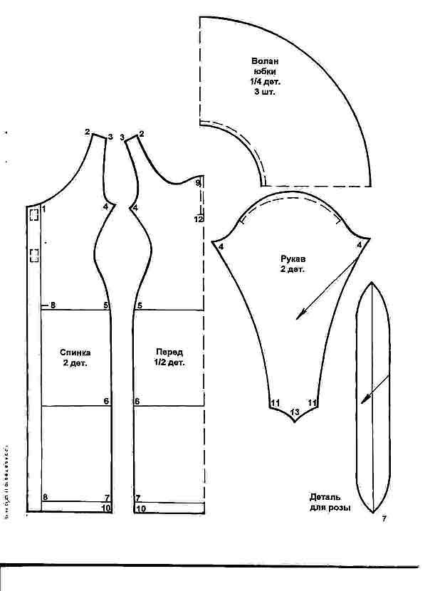 Выкройки платья для барби бесплатно