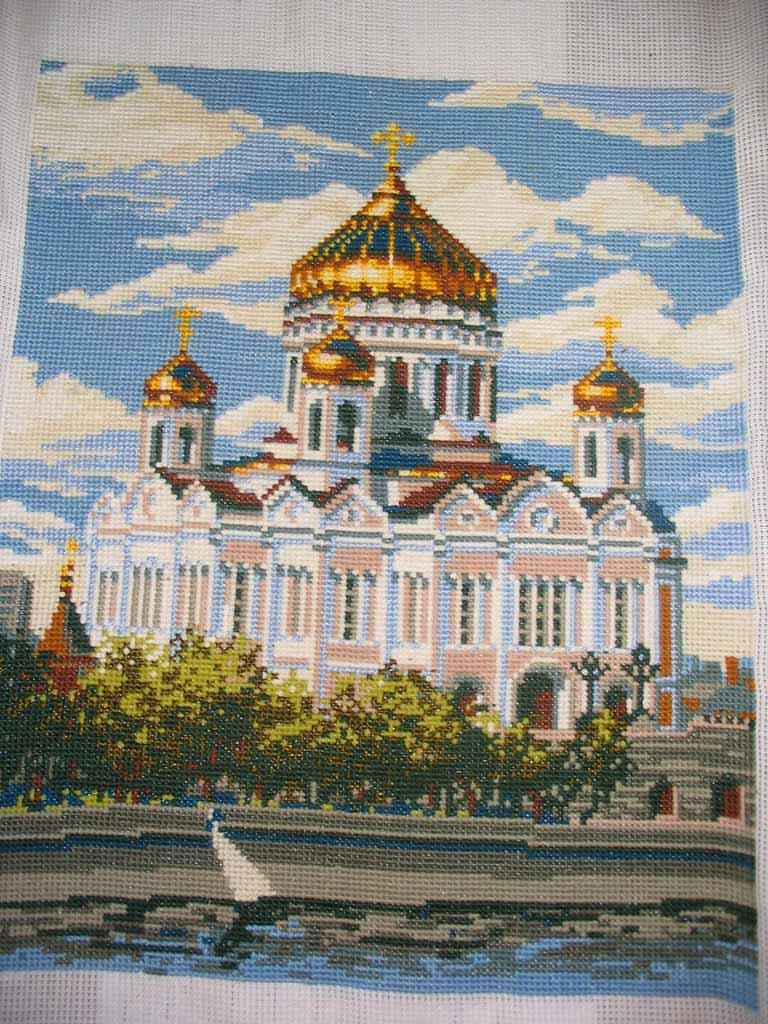 Вышивка риолис храм христа спасителя 34