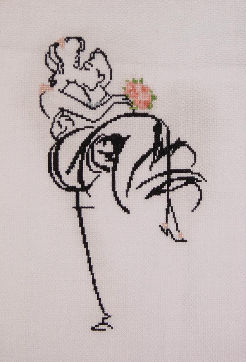 Вышивка лентами силуэты