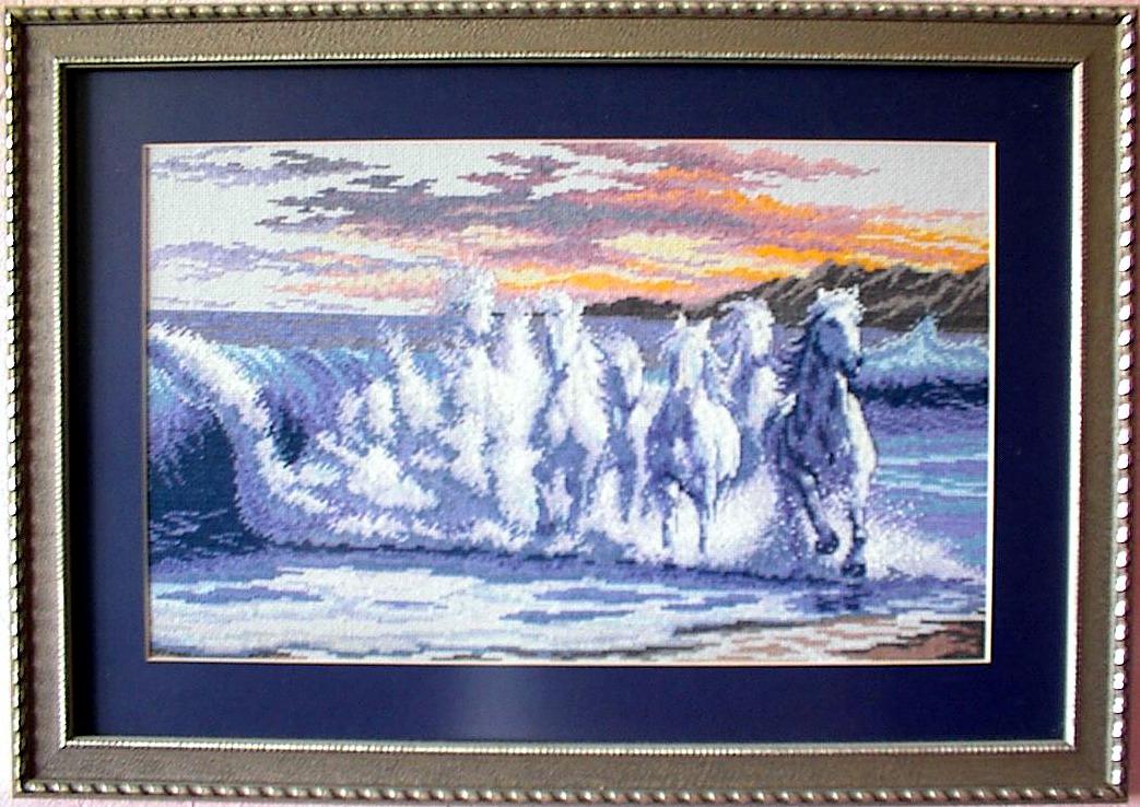 Бегущая по волнам вышивка 855
