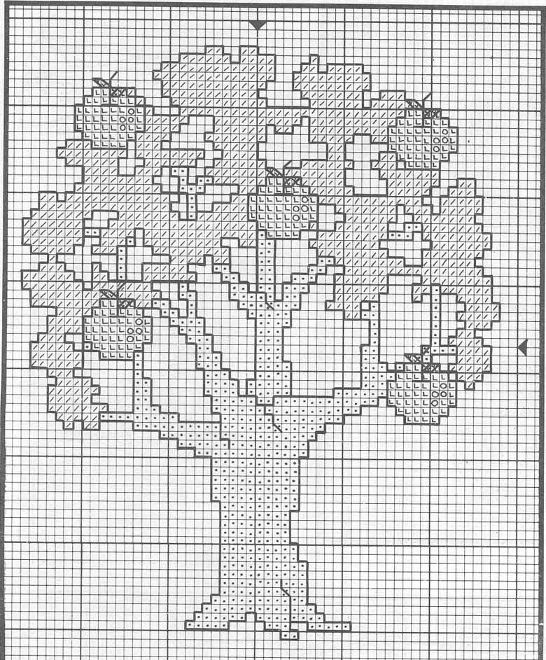 Вышивка схема денежное дерево