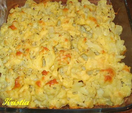 как запечь цветную капусту в духовке без сыра