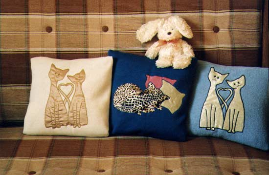 Подушка с котами своими руками