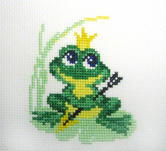 Рисунок для вышивки лягушка