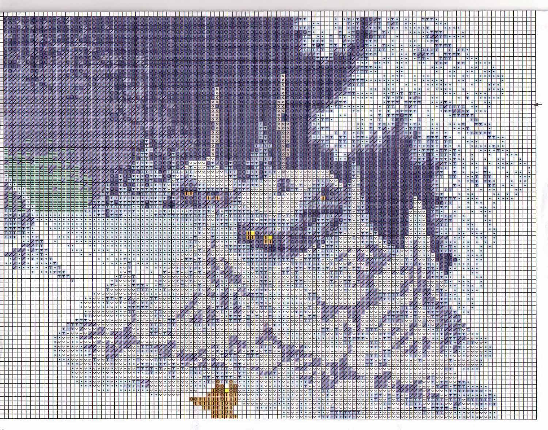 Зимняя сказка схема крестом