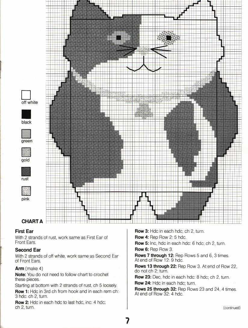 Схемы рисунков для вязания крючком коврики