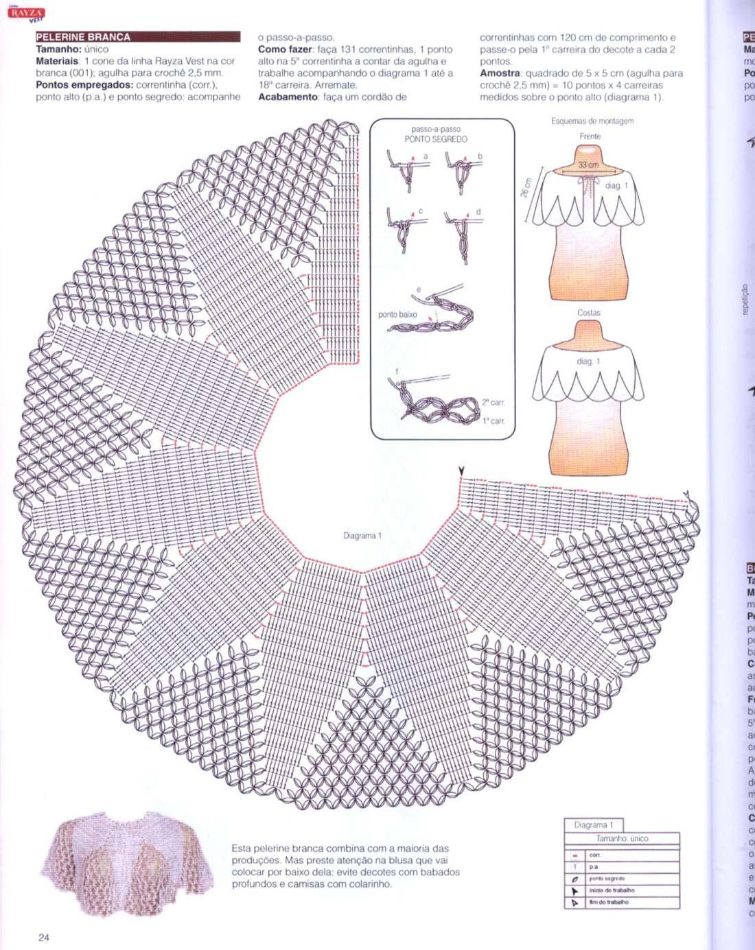 Вязание крючком накидок для женщин схемы
