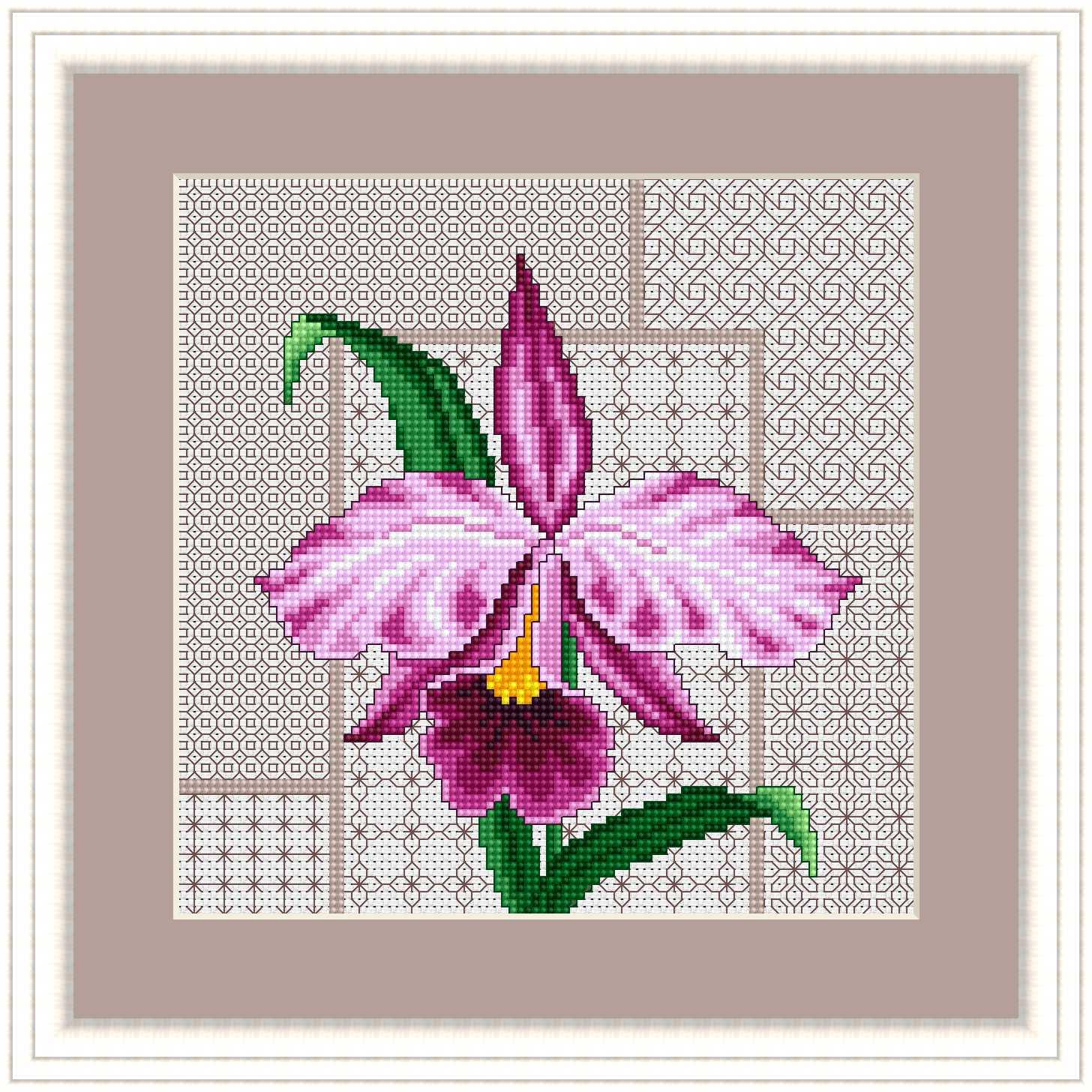 Скачать схему - Цветы, флора 69