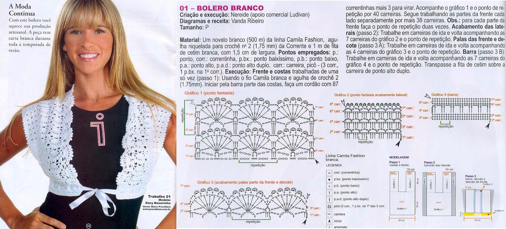 Ажурное вязание крючком схемы болеро для