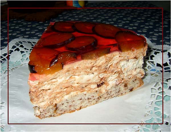 Тортик со сливой фото