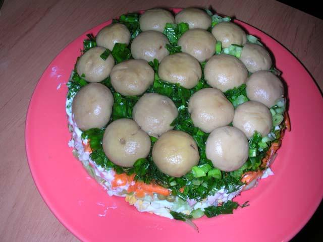 Грибная поляна рецепт пошагово