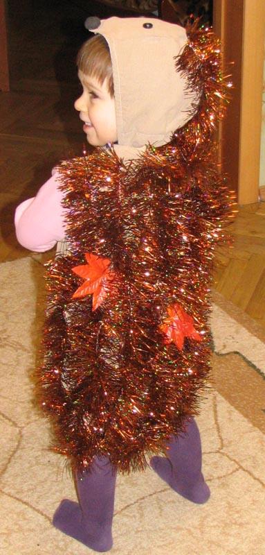 Новогодние костюмы ежика своими руками