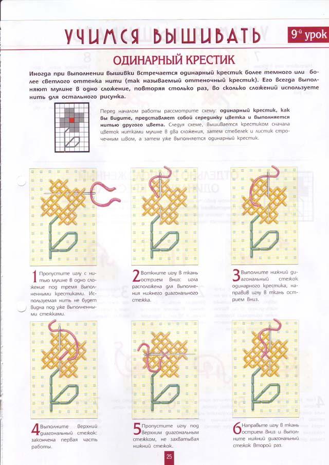 Схемы вышивки по пошагово