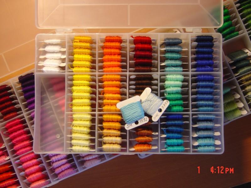 Хранения ниток для вышивки