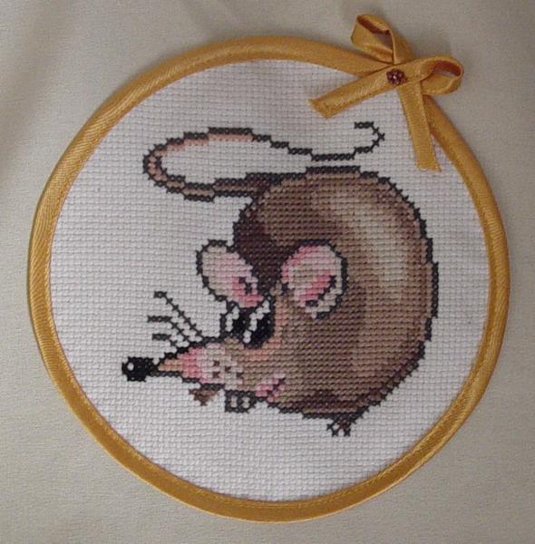 Вышивка крестом крыса схема 72