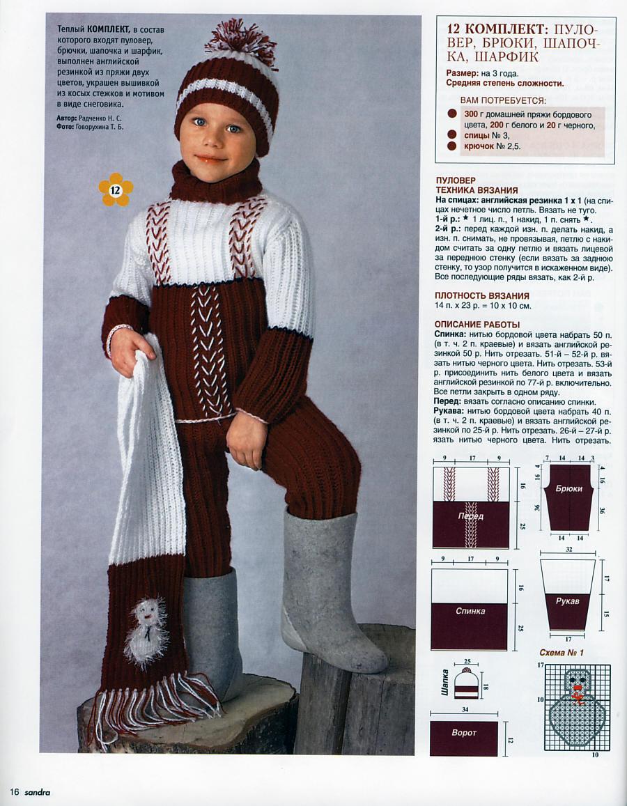 Вязание на машине детских штанов 50