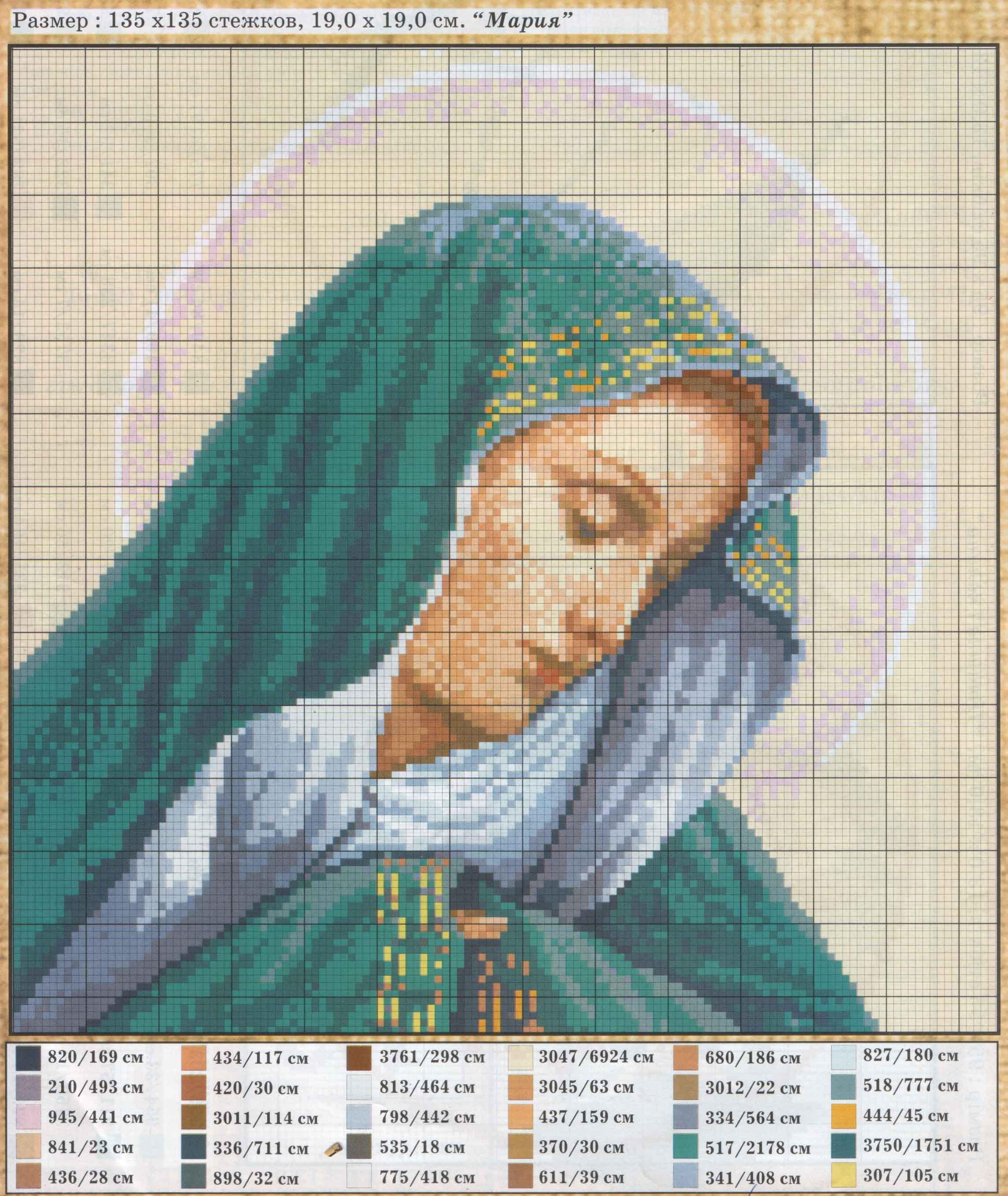 Фото иконы схемы вышивки