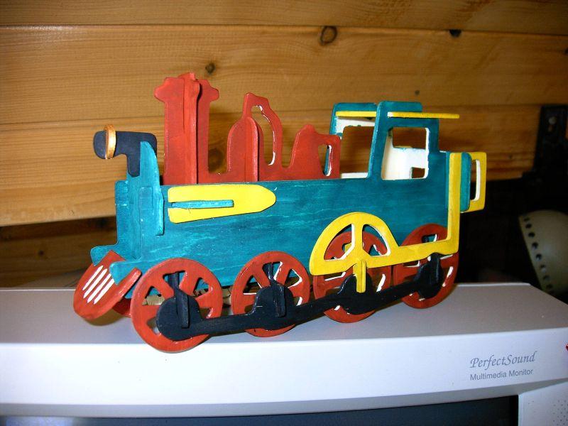Фото детского поезда своими руками