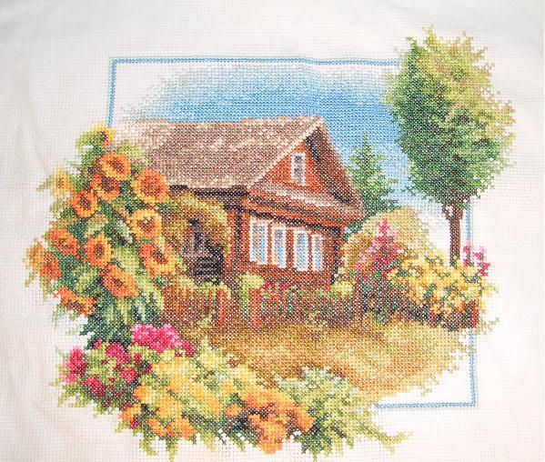 Моя деревня вышивка лето 635