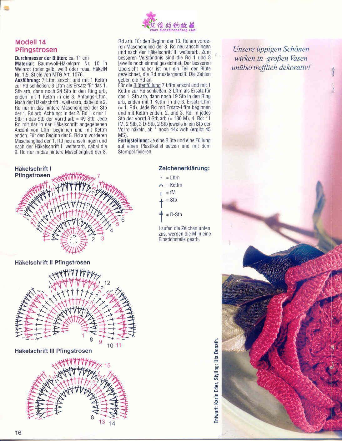 Цветы вяжем крючком и спицами, Цветы бесплатные схемы