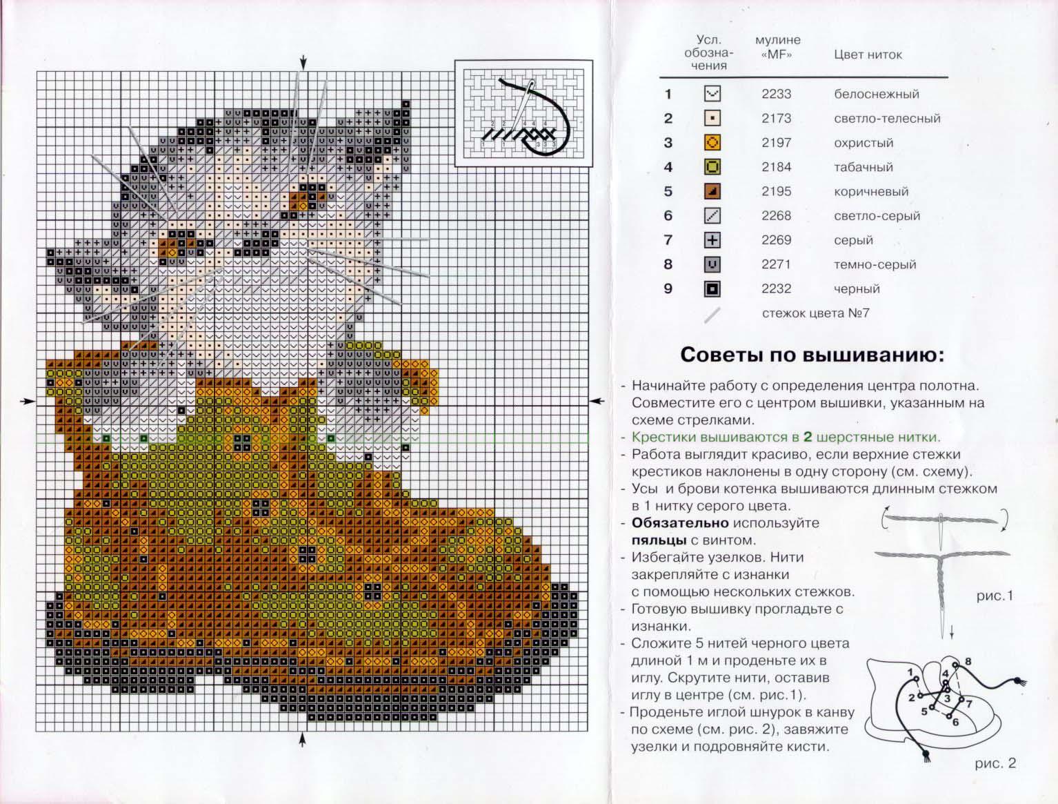 Вышивка бисером схемы котят