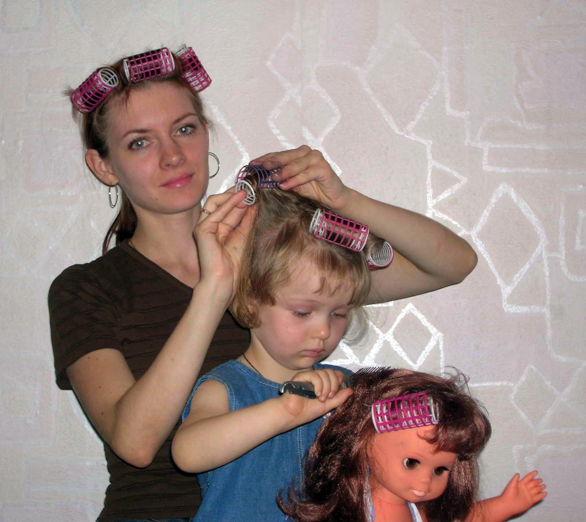 Отец и дочь причёски