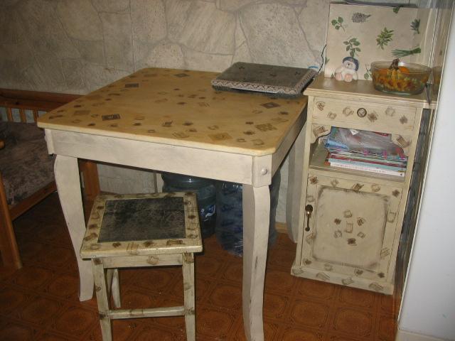 Стол из старой мебели своими руками