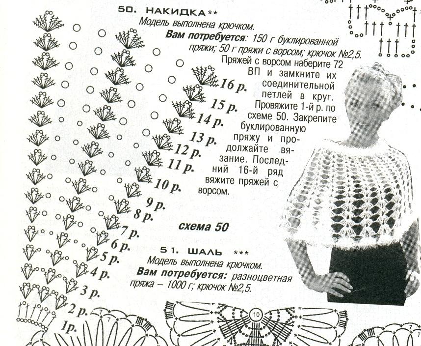 Вязание крючком накидки и пончо для женщин 66