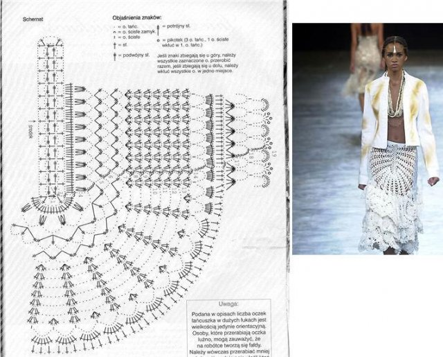 Бразильское вязание крючком со схемами