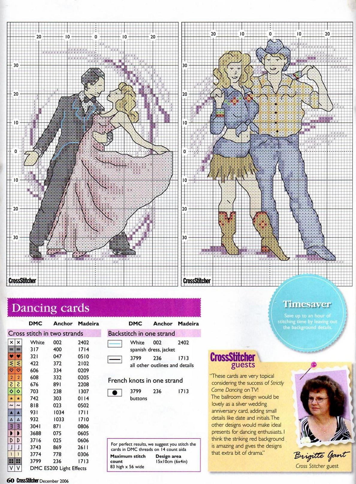 Схема вышивки с танцами 986